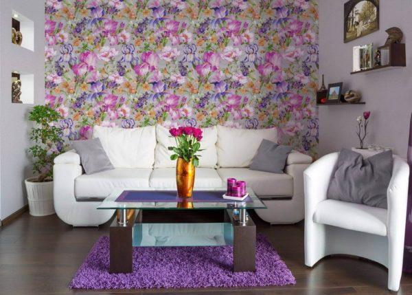 бумажные обои для стен со цветами