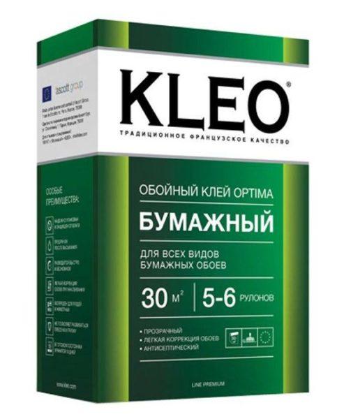 клей Kleo-optima для бумажных обоев