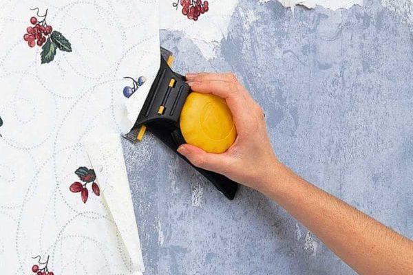 как снять бумажные обои со стен