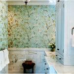 Моющиеся виниловые обои в ванной
