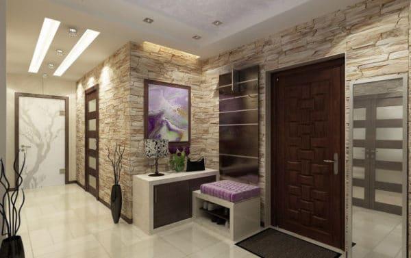Каменные обои: особенности, преимущества и варианты оформления