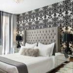 Спальня в черно-белом
