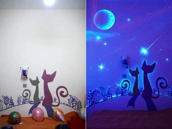 светящиеся обои, меняющие цвет
