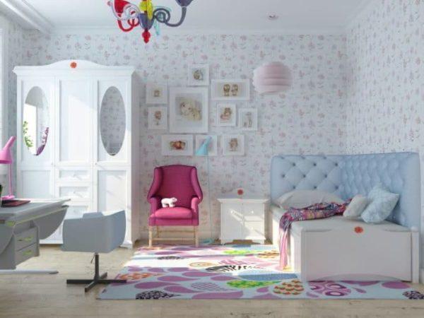 Использование белых обоев для детской комнаты