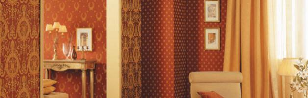 Качественные текстильные обои в дизайне интерьера